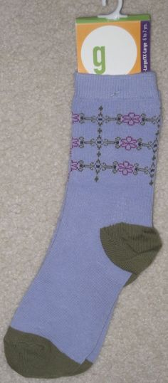 Gymboree Vintage 2000 Azalea Lavender Olive Green Socks 6 7 yrs XL XXL   eBay