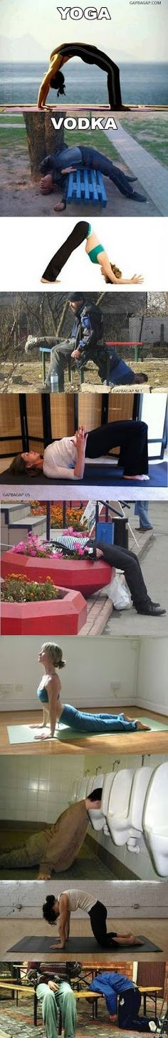 Top 10 Funniest Pictures Of Yoga vs. Vodka