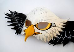 American Bald Eagle Animal Leather Mask // Emerson has asked to be an eagle for Halloween. I am SO excited!!