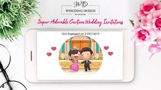 Super Adorable Cartoon Wedding Invitations For The Fun Loving Couple Digital Invitations, Custom Wedding Invitations, Invitation Cards, Fun Loving, Getting Engaged, Love Couple, Cartoon, Couples, Engineer Cartoon