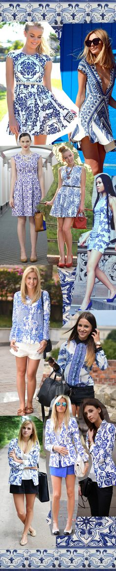 Fashion inspiration | Porcelain Print | Estampa de azulejo português