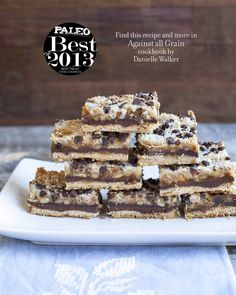 "Seven-Layer Bars Dessert from Against All Grain - Paleo (and egg free) ""killer cookies"" Paleo Dessert, Healthy Sweets, Gluten Free Desserts, Dessert Bars, Delicious Desserts, Dessert Recipes, Recipes Dinner, Comidas Paleo, Granola Barre"