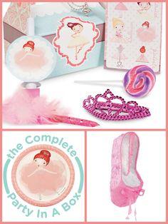 Pink Ballerina Tutu Party Planning, Ideas & Supplies >> Ballerina Tutu Birthday Party in a Box