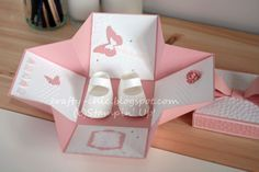 This would be a nice gift box for a wedding or baby gift! Exploding Box Tutorial #DIYpaperbox