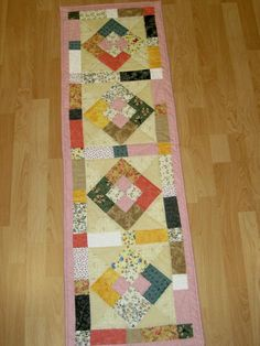 long table runner i made for my sister in law