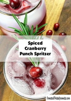 Spiced Cranberry Punch Spritzer - Powered by Cranberry Punch, Free Stuff, Spices, Vegetables, Drinks, Recipes, Food, Drinking, Spice