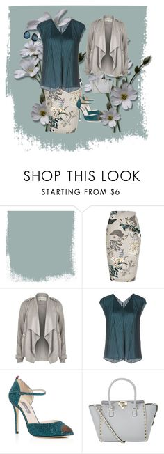 """""""Teal and Gray"""" by chauert on Polyvore featuring River Island, Pleats Please by Issey Miyake, SJP, Valentino and Ippolita"""