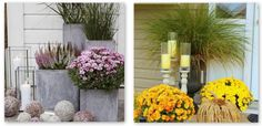 jesienne dekoracje, jesień, dynia, inspiracje, halloween, ganek, wrzos