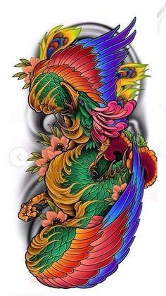 Japanese Tattoo Art, Samurai Tattoo, Japan Fashion, Body Tattoos, Animals, Phoenix, Style, Lady Like, Tattoo Art
