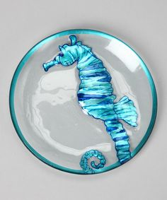 Take a look at this Seahorse Glass Plate by Sealife by Dennis East on #zulily today!