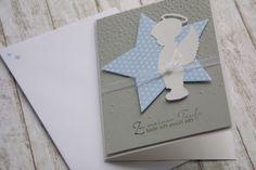 Baby & Geburt - ♥ Einladung Taufe Junge Engel - ein Designerstück von Das-Werk-der-Feen bei DaWanda