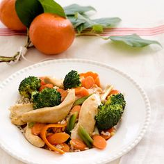 Tangerine-Chicken Stir-Fry #Recipe. #lowcal