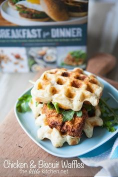 Chicken & Biscuit Waffles | 24 Mind-Blowing Ways To Eat Chicken And Waffles