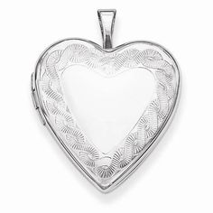 "NEW STERLING SILVER HEART TWISTED ROPE EDGE LOCKET 3.75g PENDANT .79"" X .79"" #Locket"