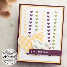 Pretty Cards, Cute Cards, Valentine Cards, Valentines, St Patricks Day Cards, Arts And Crafts, Paper Crafts, Heart Cards, Just A Little
