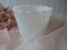 Vintage Fire King Milk Glass Hobnail by mymilkglassshop on Etsy, $16.50