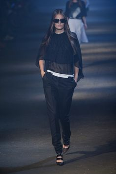 Sheer, another trend for Spring: Prabal Gurung S13