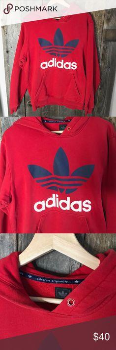 vintage degli anni '90 adidas rosso crewneck felpa mens taglia xl