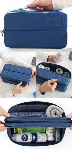 Packing for your next travel is done much smarter and easier thanks to the Dual Underwear Pouch! The pouch features 2 separated compartments so that you can organize underwears, socks, toiletries as needed. The durable and water-resistant material will protect the items inside during your travel!