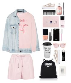"""To work in pink"" by mydlak-katarzyna on Polyvore featuring moda, Vans, Alexander Wang, Lingua Franca, NARS Cosmetics, MAC Cosmetics, Sephora Collection, Givenchy, RMK i Karen Walker"