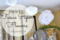 DIY how to make tissue paper flowers for decorations