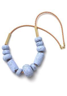 Image of Messina Blueberry Big Bead Necklace