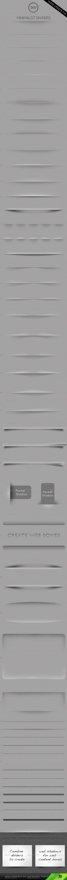 Minimalist Dividers - Resizable  - GraphicRiver Item for Sale http://graphicriver.net/item/minimalist-dividers-resizable-/146824#