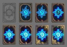 ArtStation - Blizzcon 2018 Hearthstone Card Back, Charlène Le Scanff (AKA Catell-Ruz) Digital Painting Tutorials, Digital Art Tutorial, Art Tutorials, Drawing Tutorials, Spongebob Drawings, Game Card Design, Hand Painted Textures, Game Props, Texture Painting