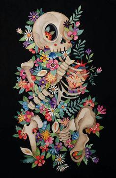 Painting Inspiration, Art Inspo, Art Sketches, Art Drawings, Skull Wallpaper, Arte Horror, Anatomy Art, Mexican Art, Psychedelic Art