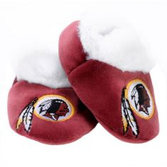 Washington Redskins Baby Bootie Slipper $11.99 http://www.fansedge.com/Washington-Redskins-2011-Baby-Bootie-Slipper-_160359530_PD.html?social=pinterest_pfid22-15586