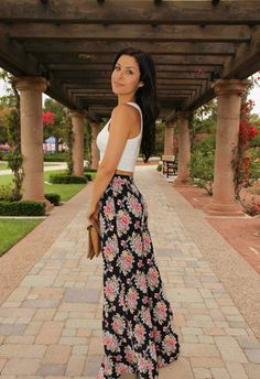 Crop Top and Floral Wide Leg pants