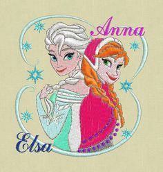 embroidery design Frozen Elsa Anna pes hus jef by ViolaFashion