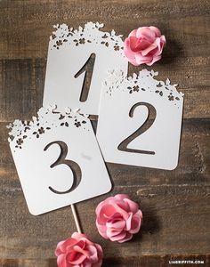 DIY Wedding Signage  I could totally use my cricut for these.