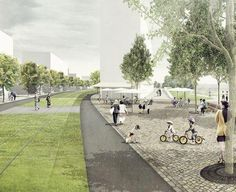 Urban Agriculture And Landscape Architecture Landscape Architecture Design, Architecture Graphics, Architecture Visualization, Urban Architecture, Architecture Drawings, School Architecture, Parque Linear, Photoshop Rendering, Architecture Presentation Board