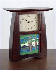 The Arts & Crafts Landscape Mountain Mantel Clock