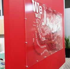 #YYC Urban Systems Signage - Printed directly on a plexi glass