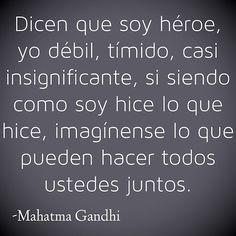 Frases • #Frases de voluntad -Mahatma Gandhi  #citas  #reflexiones