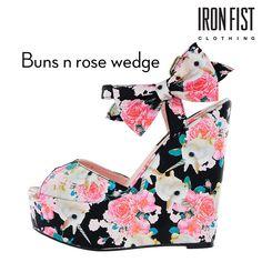 아이언피스트 buns n rose wedge  #ironfist #아이언피스트 #펑키 #유니크 #여자신발 #여자구두 #웨지힐