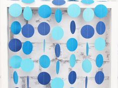 Blue Ombre Paper Garland Boy Baby Shower Decor Blue by LucyBirdy