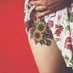 Imagen de tattoo, flowers, and sunflower