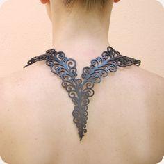 Colar Volúpia rubber-jewelry, jóias de borracha