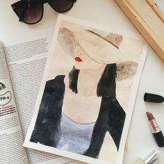 Lady. Watercolor