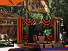 I like the bunting.  If I can't find orange and black striped fabric, just make it.