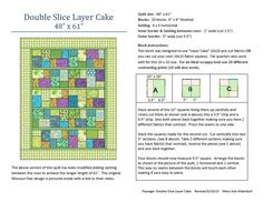 """Double Slice Layer Cake"" quilt pattern for St Vincent Passage Quilts (revised 8/11/15)"