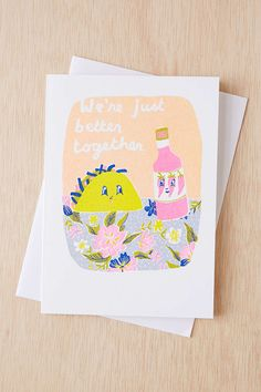 Yellow Owl Workshop Risograph Better Together Card