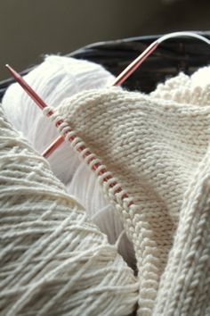 knitting with natural colors
