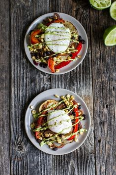 Breakfast Friday: Tex-Mex Eggs Benedict with Grilled Potato Slabs + Avocado Lime Hollandaise | edibleperspective.com
