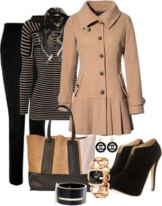 """Black and Tan 2"" by averbeek on Polyvore"
