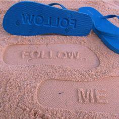 Follow me flip flops!