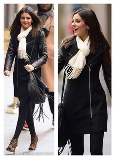 Victoria Justice- love this look - winter street style